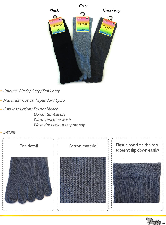 Plain Long Toe Socks